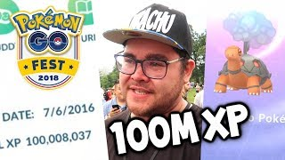 HITTING 100 MILLION XP AT POKÉMON GO FEST! (I CRIED)
