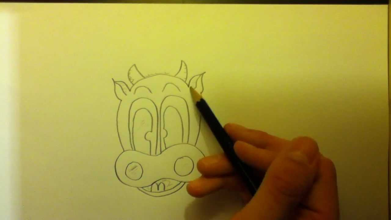 Dessiner une vache style cartoon youtube - Comment dessiner une vache facilement ...