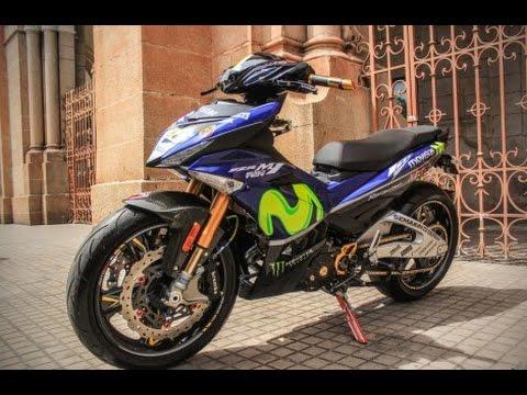 Modiifkasi Yamaha MX King atau Yamaha Exciter, Swing Arm Lebar Suspensi Depan Belakang Ohlins
