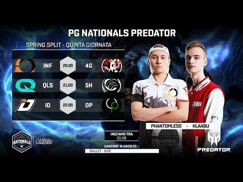 PG NATIONALS PREDATOR - QUINTA GIORNATA - INF vs 4G