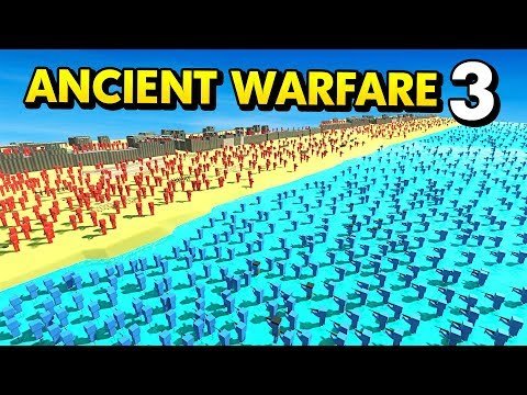 D-DAY ATTACK IN ANCIENT WARFARE 3 (Ancient Warfare 3 Best User Levels / Funny Gameplay)