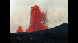 Kilauea Eruption With Peter at Fissure 8 in Leilani Estates.  May 31, 2018