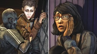 Clem Fails to Save Sarah vs Convince Her to Escape -All Choices- The Walking Dead