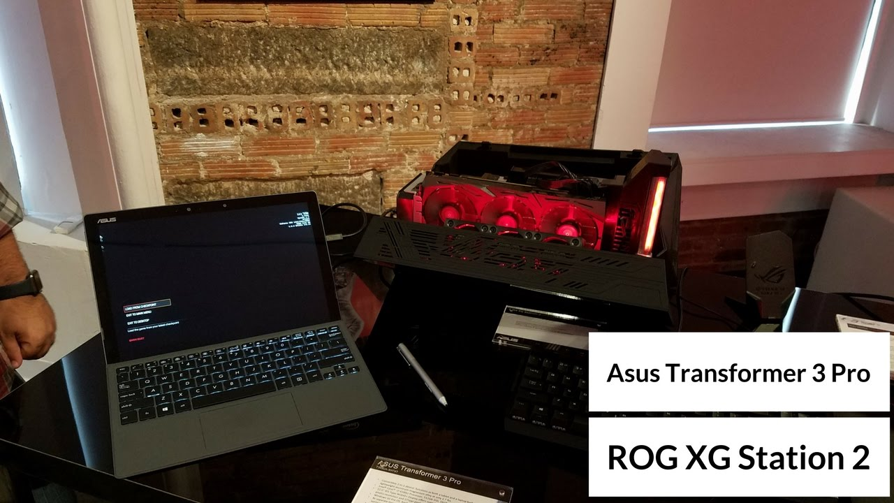 Asus Transformer Pro 3 & ROG XG Station 2 - DOOM gameplay @70FPS - YouTube