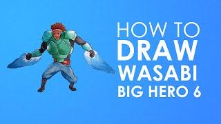 How to draw Wasabi - Big Hero 6