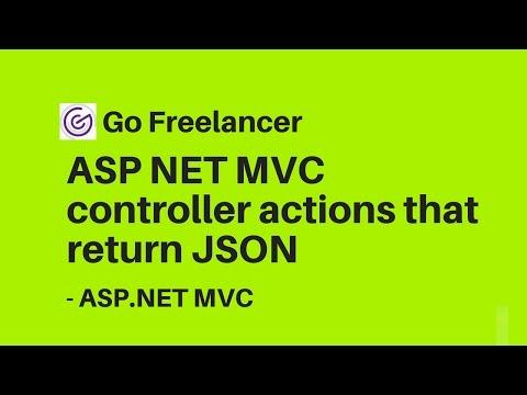 ASP NET MVC controller actions that return JSON