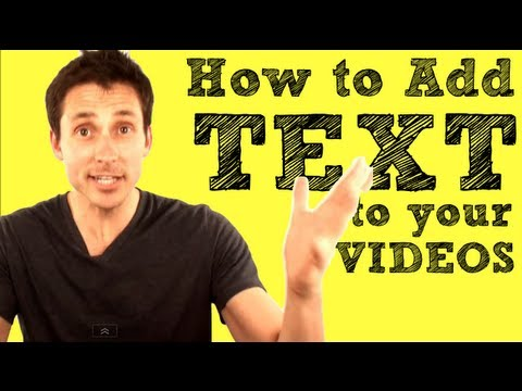 How to add text to a youtube video 2018