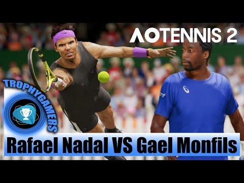 AO Tennis 2 Gameplay – Rafael Nadal VS Gael Monfils