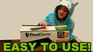 Unboxing and testing a Foodsaver FM2000: So Easy an Eleven-Year-Old Can Do it! Episode 1