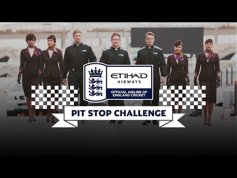 England Cricket Team | Pit Stop Challenge | 2015 Formula 1 Etihad Airways Abu Dhabi Grand Prix