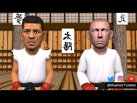 MMA Comedy Animations : We Were Brothers - Nick Diaz VS George st pierre  the untold Story