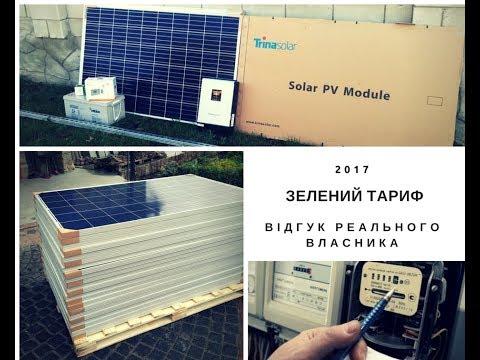 Зелений тариф в Україні відгуки власника