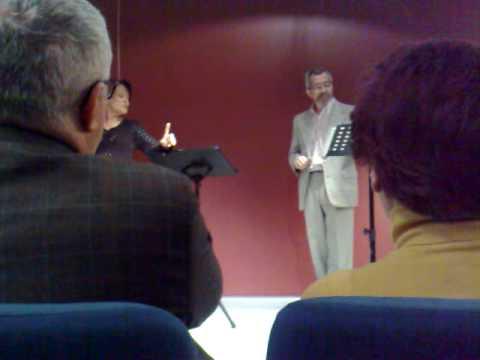 Recital Poseía Biblioteca Nacional de Espana Spain Madrid Homenaje Dia de la Poesia