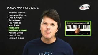 Aula de piano iniciante - mês 4 - Mais que Música -  Conteúdo