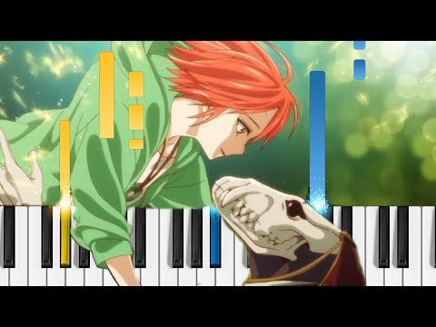 Mahoutsukai No Yome OP - Here - EASY Piano Tutorial - The Ancient Magus' Bride