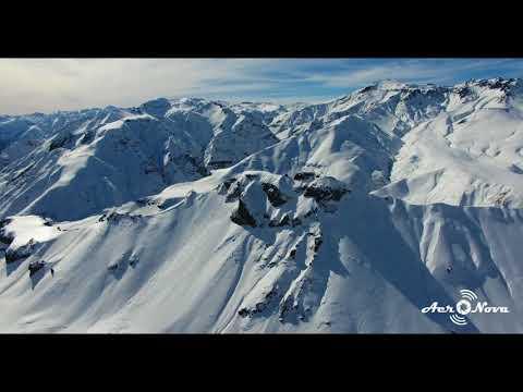 CHILE Andes Mountain Range Maule, Drone 4k, Cordillera de los Andes