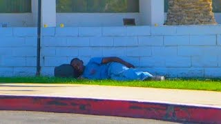 Homeless Man Does Emotional Act Social Experiment