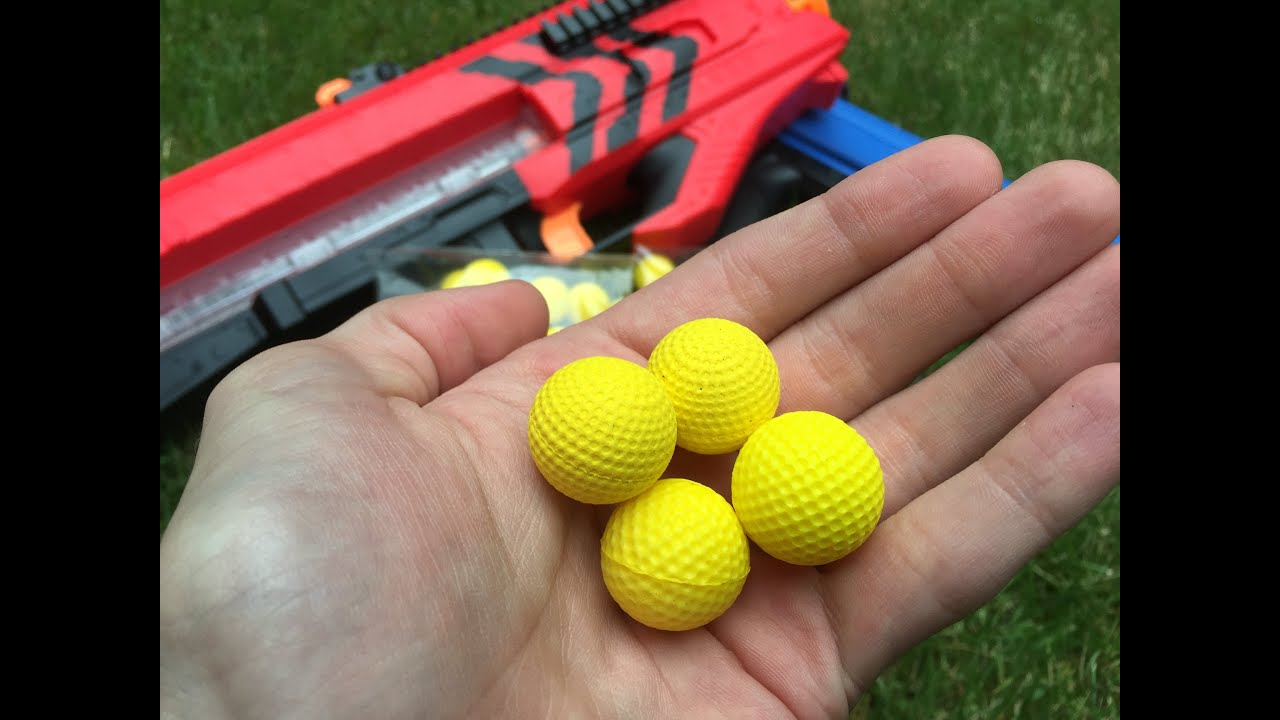 Review Fake Nerf Rival Balls Rounds Cheaper but are they as good