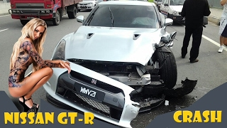 Ultimate Nissan GT-R CRASH and stupid accidents
