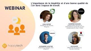 Webinar : L'importance de la biophilie et d'une bonne qualité de l'air dans l'espace de travail