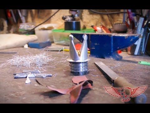 Lathe machine satisfying video - Crown custom fuel cup DIY Metalworking project - Roma Custom Bike