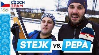 Stejk vs. Josef Dostál - Biatlonová CHALLENGE a soutěž o Raškovku