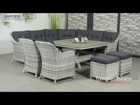 Garden impressions milwaukee cloudy grey lounge dining set youtube