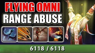Flying 6000 HP Beast [Imba Attack Range Omniknight] Melee Hero Arctic Burn | Dota 2 Ability Draft