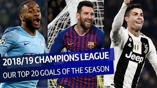 The top 20 goals of the 2018/19 UEFA Champions League