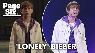 Justin Bieber's 'Lonely' video exposes 'sick' child star experience | Page Six Celebrity News