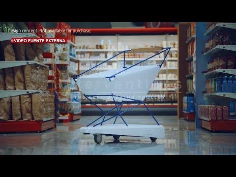 Ford diseña carrito para el supermercado con sensores de proximidad