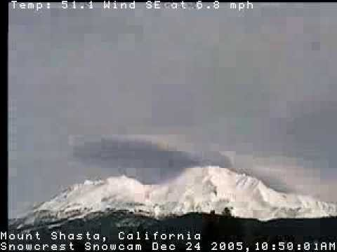 Mount Shasta Cloud Ship UFO Phenomenon 999energy Time Lapse