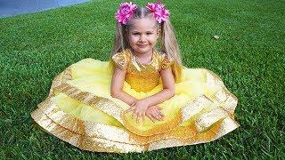 डियेना सुंदर बनना चाहती है और एक राजकुमारी की तरह कपड़े