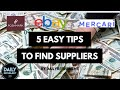 E9.5/48 5 Ways To Find Supplier Connections and Multiply Your eBay Business