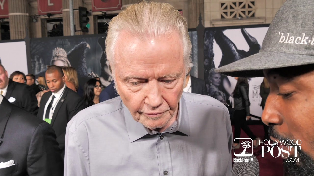 Jon Voight talks Donald Trump Impeachment on Maleficent Red Carpet