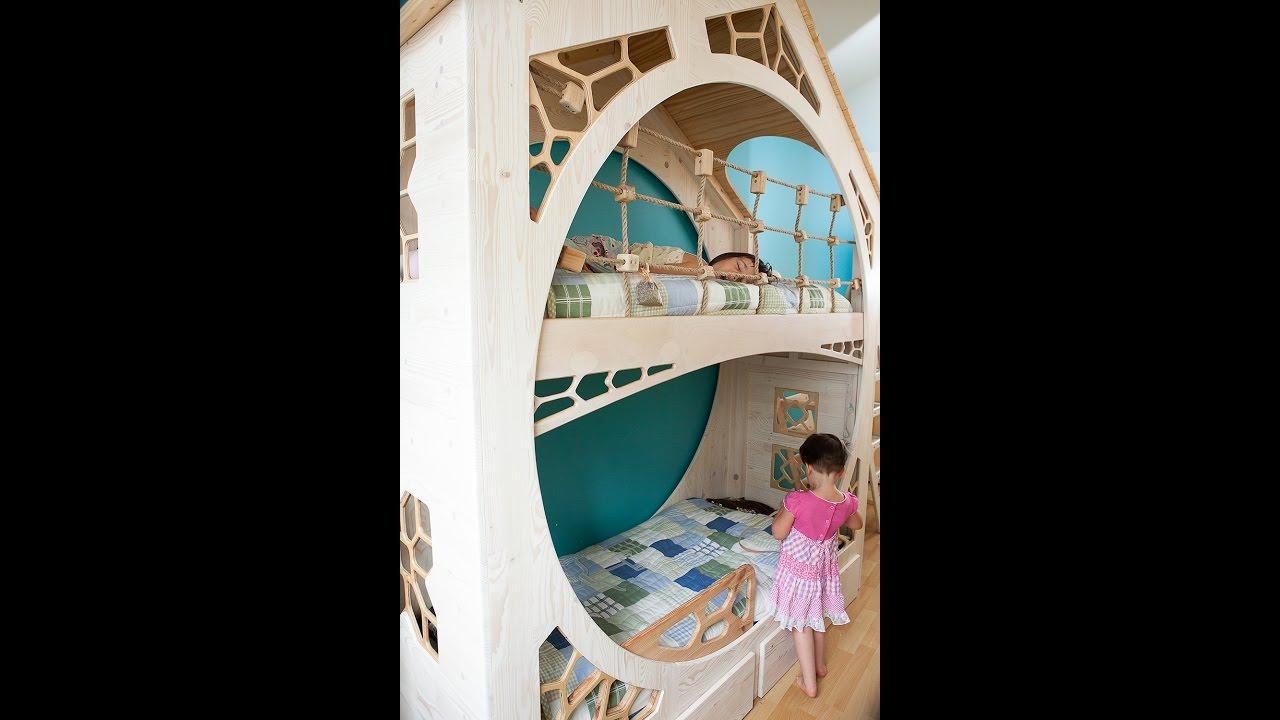 Budowa łóżka Piętrowego Dla Dzieci Hobbit House Bunk Bed