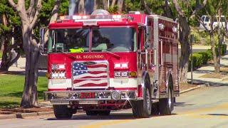 (Air Horn) El Segundo Fire Dept. Engine 31 & Rescue 32