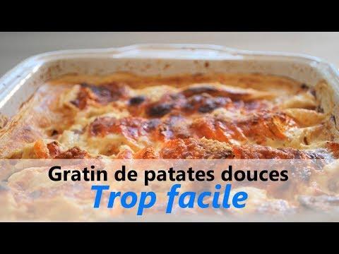 RECETTE facile & rapide / 255 Kcal - Gratin aux patates douces - végétarien & sans gluten