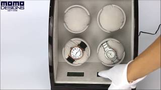 Deluxe Watch Winder for 4 Automatic Watches with LCD Control System