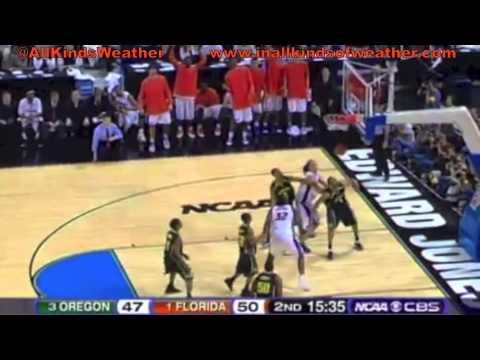 2007 Elite 8: (1) Florida Gators vs. (3) Oregon Ducks