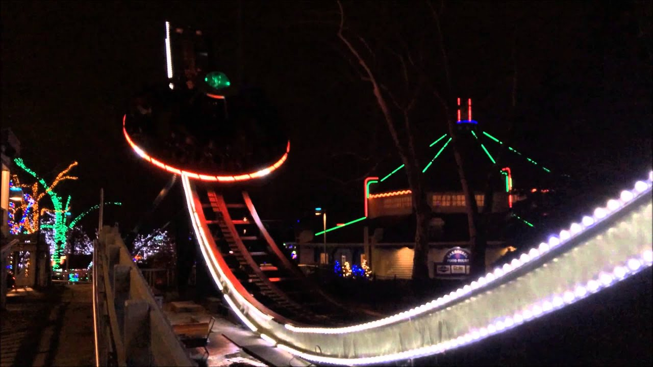 Kennywood Holiday Lights Cosmic Chaos 12/22/2013 - YouTube