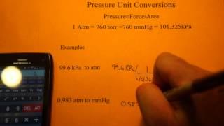 Pressure Unit Conversions