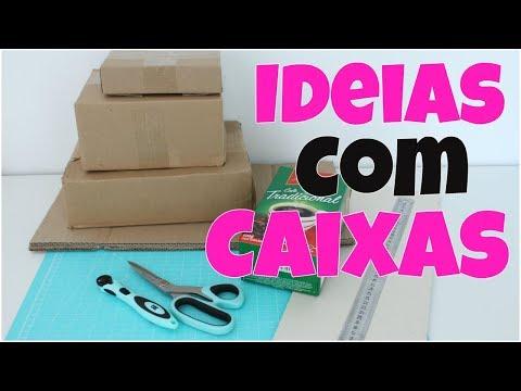 Ideias incríveis usando caixa de papelão  Vale a pena ver de novo  Viviane Magalhães
