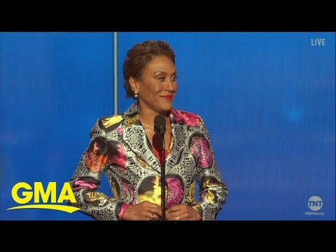 Willie Moore Jr. - Robin Roberts honored with Sager Strong Award at 2019 NBA Awards