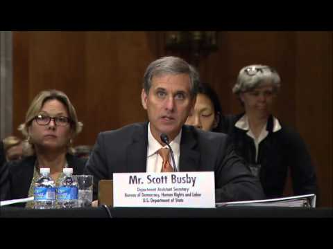 DAS Busby Testifies on Democracy in Southeast Asia