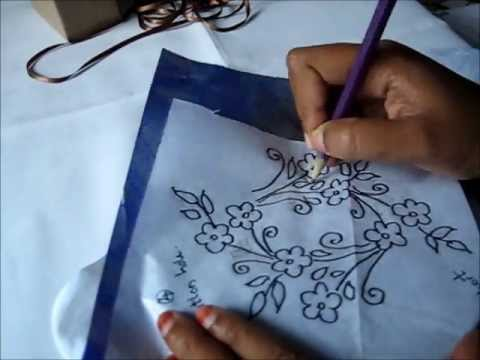 Transforming Design On Fabric Carbon Paper Youtube