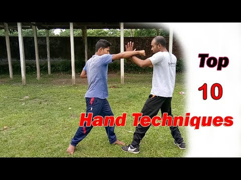 Top 10 Martial Arts Hand Techniques | Best Self Defence Moves | Kung Fu Fighting Video