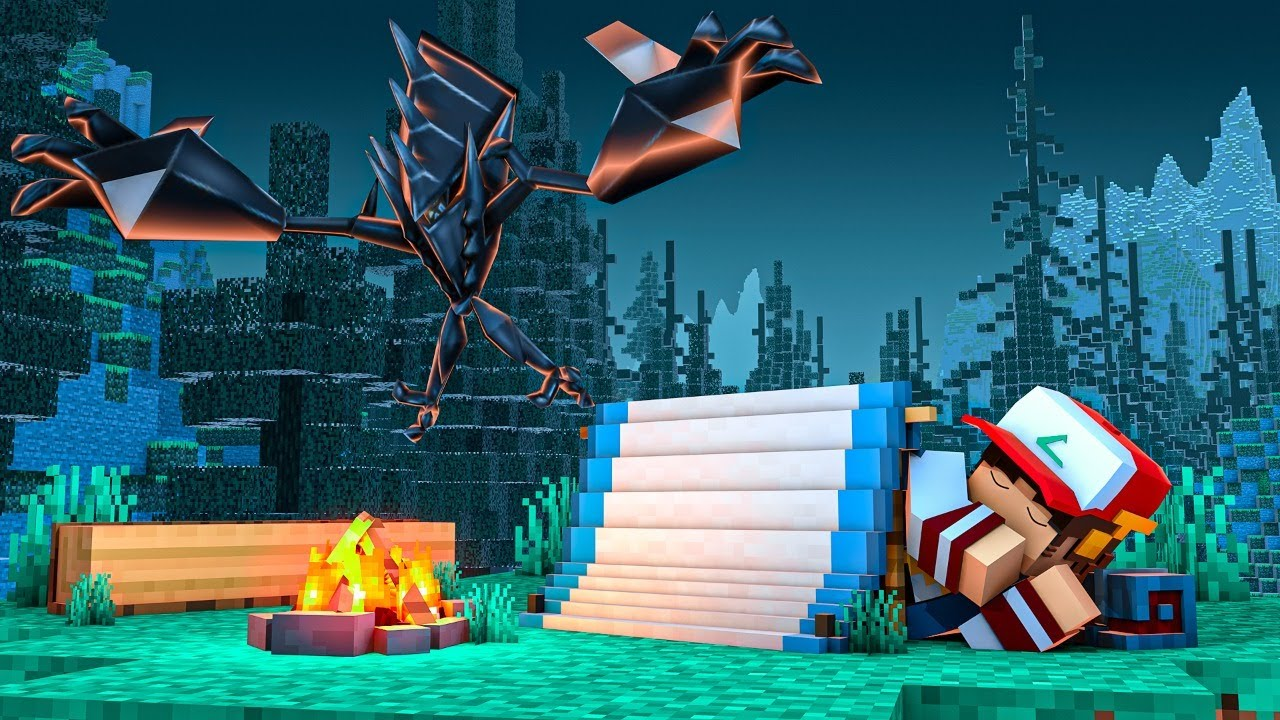 Minecraft: FIZ ACAMPAMENTO ESPERANDO UM POKEMON Ep.10 ‹ EduKof ›