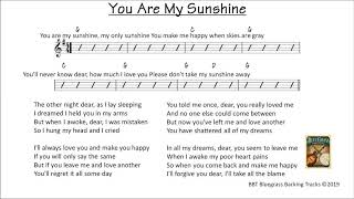 You Are My Sunshine  - bluegrass backing track