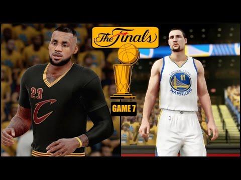 NBA 2K16 (PS4) 2016 NBA Finals Game 7 - Warriors vs Cavs Simulation